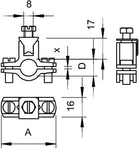 950 Z 1 1/4 COLLARE FISSATUBO PER MESSA A T